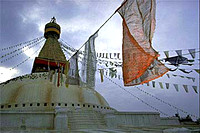 Prayer Flags in Bodnath, Nepal