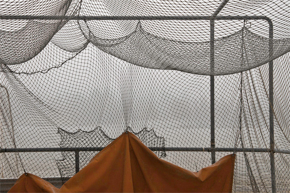 Batting Cage in Winter
